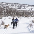 Linking up to Cammy's Trail, which is groomed and tracked for cross-country skiing.- Round Valley Trails, Cove Trailhead