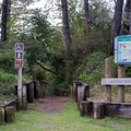 Trailhead for Lagoon Loop Trail.- Lagoon Campground