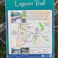 Lagoon Loop Trailhead sign.- Lagoon Campground