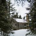 Doublehead Cabin.- Doublehead Mountain