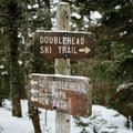 Trail intersections are well signed.- Doublehead Mountain