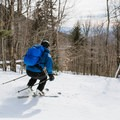 Looking down the ski trail on South Doublehead.- Doublehead Mountain