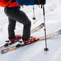 Skins off, ready to ski.- Doublehead Mountain
