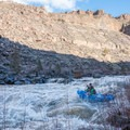 Rafts made it through with ease on the left side of No Name.- Crooked River: Lone Pine Bridge to Crooked River Ranch
