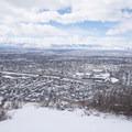 Salt Lake City from Rattlesnake Gulch.- Rattlesnake Gulch