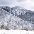 Mount Olympus (9,026 ft) and the Olympus Cove neighborhood below it.- Rattlesnake Gulch