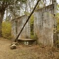 Remains of an old building atop the ridge.- Hidden Lake