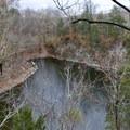 Hidden Lake from the ridge trail around Hidden Lake.- Hidden Lake