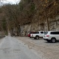 Trailhead parking for Narrows of the Harpeth.- Narrows of the Harpeth