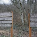Signs about restoring Franklin Cemetery. - Franklin Ghost Town, Mine + Cemetery