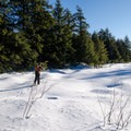 Lakes along the way are frozen and snow covered.- Gatineau Park Cross Country Skiing