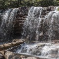 The third and final waterfall, the upper falls of Glen Onoko.- Glen Onoko Falls