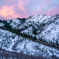 The beautiful Mount Aire during sunrise.- Mount Aire Backcountry Ski