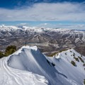 Great views along the summit ridge.- Mount Aire Backcountry Ski