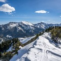 The view from the summit looking south toward Millcreek Canyon and the Central Wasatch.- Mount Aire Backcountry Ski