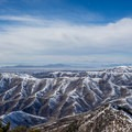 The view from the summit looking west over Salt Lake City and the West Desert.- Mount Aire Backcountry Ski