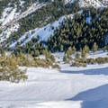 One of the many lines available off the summit of Mount Aire.- Mount Aire Backcountry Ski