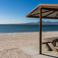 Many sites are right on the beach.- Lake Havasu State Park Campground
