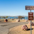 Lake Havasu State Park Campground entrance.- Lake Havasu State Park Campground