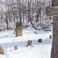 The Eames family cemetery is at the end of the Blue Trail.- Mills-Norrie State Park