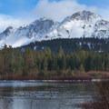 The lake often doesn't freeze until winter begins.- Manzanita Lake Loop Trail