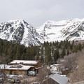 The cirque sitting above the city of Sundance.- Stewart Falls + Honeymoon Meadow Snowshoe