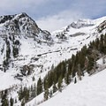 First signs of the incredible canyon that is home to the falls.- Stewart Falls + Honeymoon Meadow Snowshoe