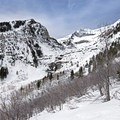 Views along the Stewart Falls snowshoe.- Stewart Falls + Honeymoon Meadow Snowshoe