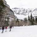 Heading out to Stewart Falls and Honeymoon Meadow.- Stewart Falls + Honeymoon Meadow Snowshoe