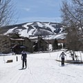 Looking back at Park City Mountain Ski Resort, the largest in the U.S.- White Pine Nordic Center