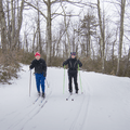 Moderately popular groomed trails.- Lake Minnewaska to Lake Awosting