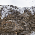 Icicles on the Upper Awosting Carriage Road.- Lake Minnewaska to Lake Awosting