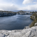 Scenic view point on the east side of Lake Minnewaska.- Lake Minnewaska to Lake Awosting