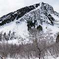 Panorama of the greater canyon.- Stewart Falls + Honeymoon Meadow Snowshoe