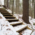 Stairs to the Upper Overlook.- Sunset Rock