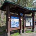 Information signs at the trailhead.- Ridgeline Trail System: Fox Hollow Trailhead