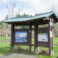 Information signs are located on Martin Street.- Ridgeline Trail System: Martin Street Trailhead to Fox Hollow Trailhead