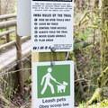 Signs along the trail.- Ridgeline Trail System: Martin Street Trailhead to Fox Hollow Trailhead