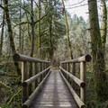 Footbridge along the trail. - Ridgeline Trail System: Martin Street Trailhead to Fox Hollow Trailhead