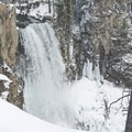 A profile of the falls on the way to the upper viewpoint.- Tumalo Falls Nordic Loop via Skyliner Sno-Park
