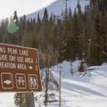 Hahns Peak Lake recreation sign.- Hahns Peak Lake Area