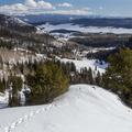 Looking back toward Steamboat Lake State Park.- Hahns Peak Lake Area