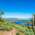 Lake Pleasant from the Yavapai Point Trail.- Yavapai Point Trail