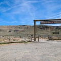 Parking is in the lot immediately outside of the Horseback Rides gate.- Las Vegas Overlook Trail