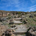The trail is a popular equestrian route and has signs of their use throughout.- Las Vegas Overlook Trail