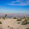 Las Vegas city view from the overlook point.- Las Vegas Overlook Trail