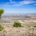 Las Vegas city skyline from the overlook point.- Las Vegas Overlook Trail