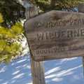 James Peak Wilderness sign.- Crater Lakes via East Portal Trailhead