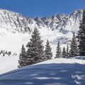 Wide view of Atlantic Peak and Fletcher Mountain.- Mayflower Gulch