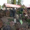 Some sculptures at Petersen Rock Garden are showing signs of wear and neglect.- Petersen Rock Garden